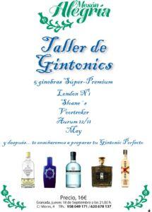 Taller de Gin Tonics en Mesón Alegría